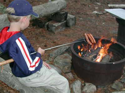 Rome Big Stick Hot Dog Fork is easy for kids to hold, can hold marshmallows too! #hotdog #camping #theymakethat
