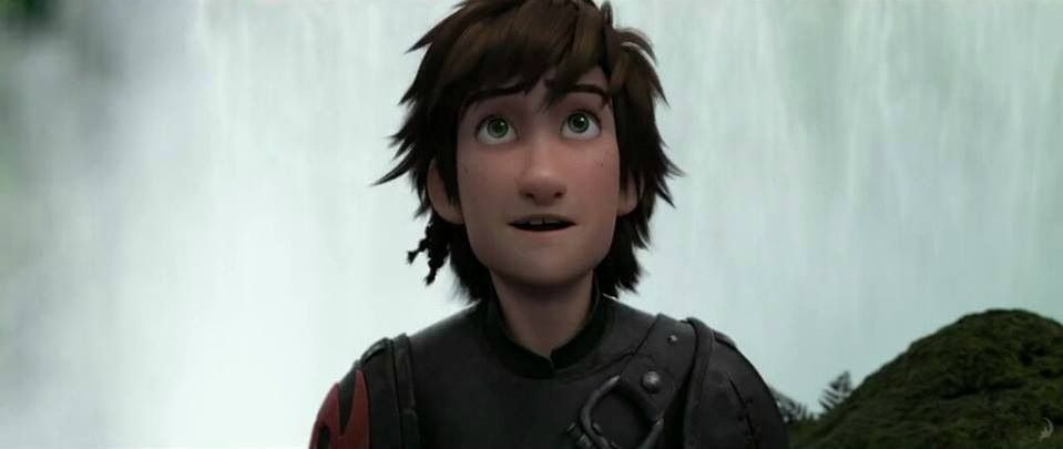 Hiccup is amazed at something.