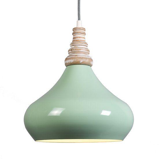 QAZQA Maple - Hanglamp - 1 Lichts - Ø30 cm - groen
