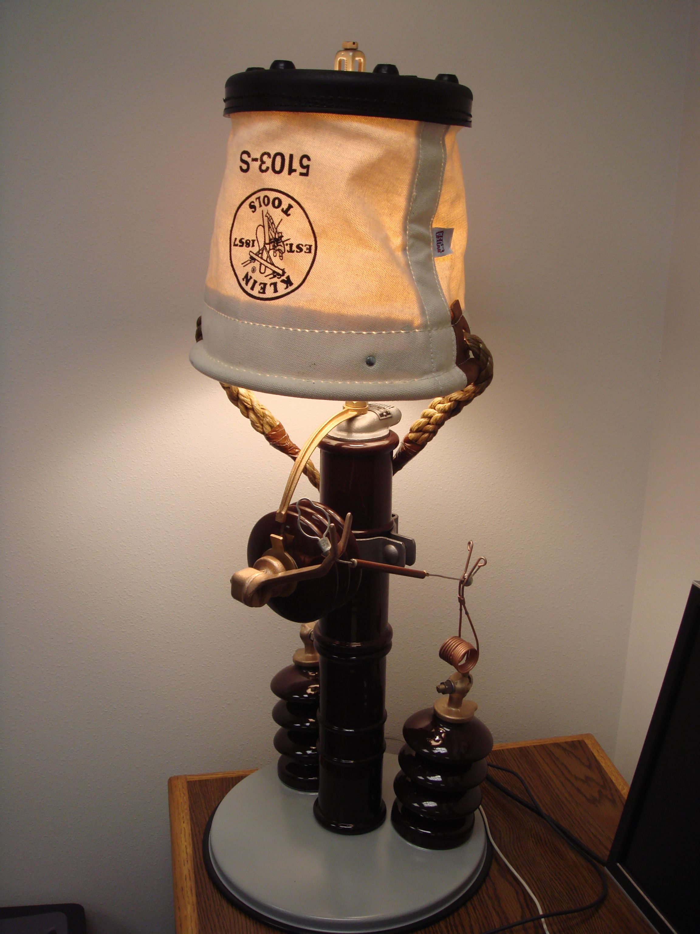 Lamp Made Out Of Recycled Junk Parts And A Kleintools