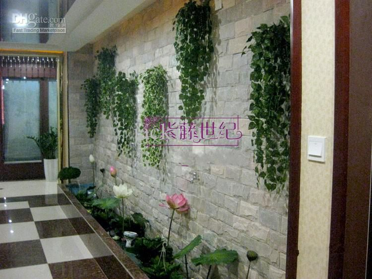 Novelty Home Decor Wall Hanging Plant Vine Artificial Silk