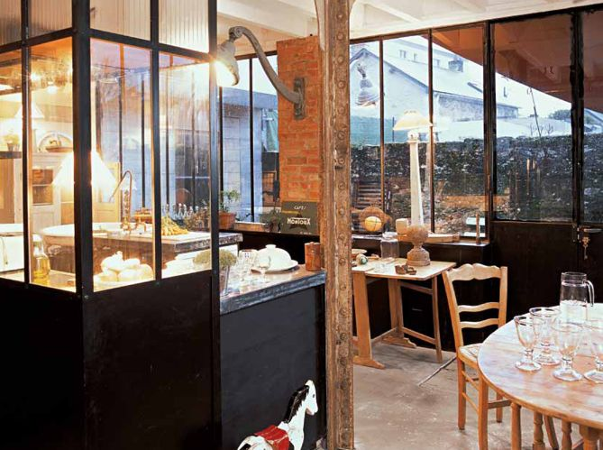 Loft industriel industrial loft for Cuisine industrielle loft