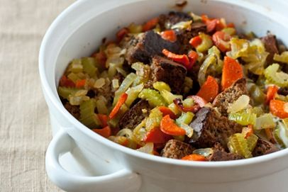herb baked stuffing - gluten free.  looks like i'll have to attempt this one for thanksgiving.