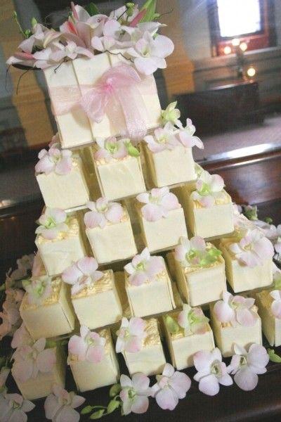 Square flower cupcakes