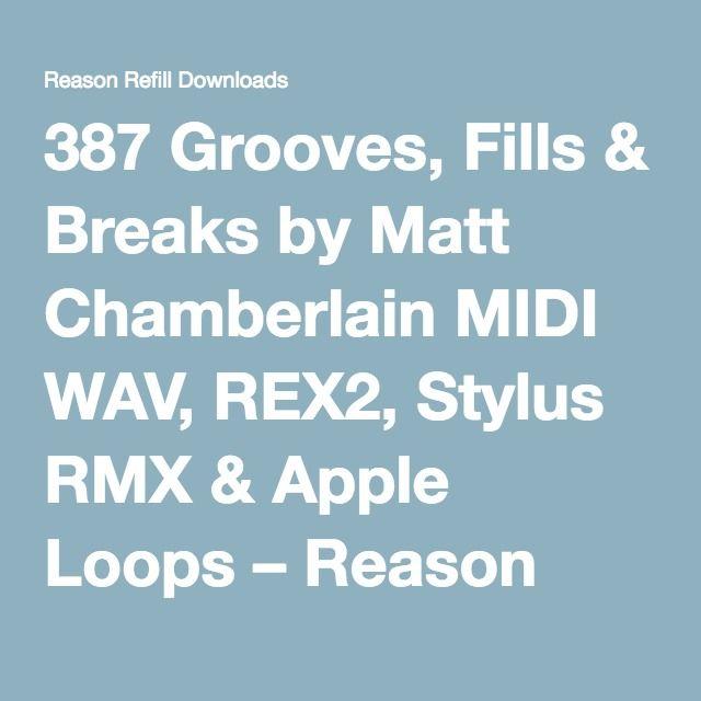 387 Grooves, Fills & Breaks by Matt Chamberlain MIDI WAV