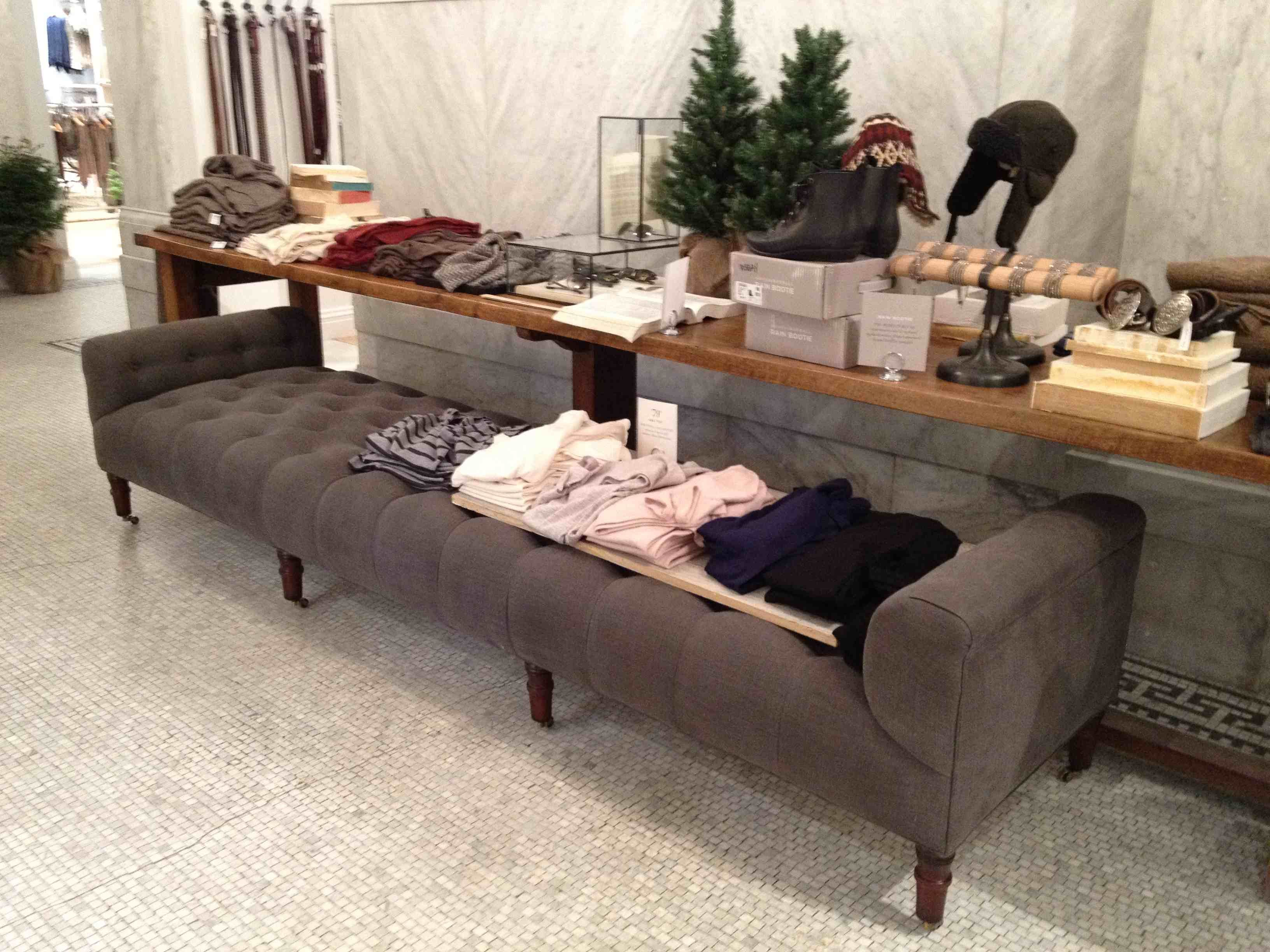 John Derian Bench By Cisco Brothers At A Club Monaco Store.