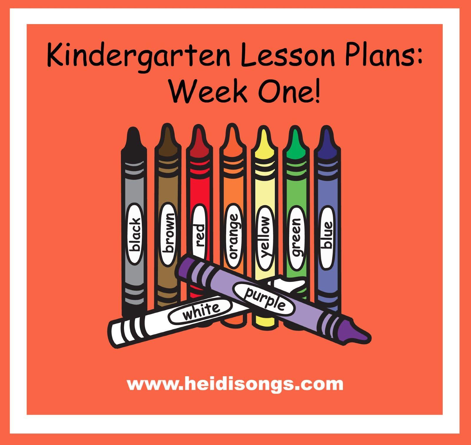 Heidisongs Resource Kindergarten Lesson Plans Week One