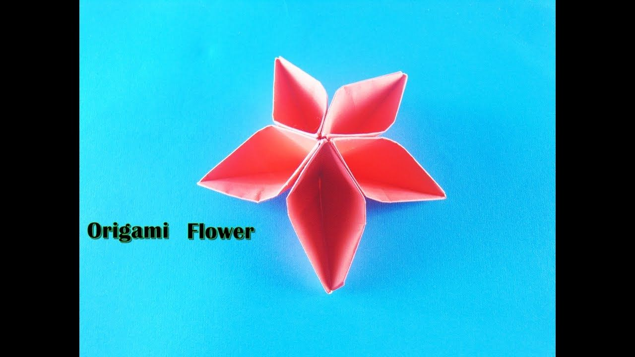 How To Fold Paper Diy Origami Flower Paper Fold Flower How To