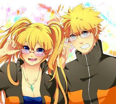 Naruko And Naruto Wear Glasses Naruko Uzumaki Genderbend