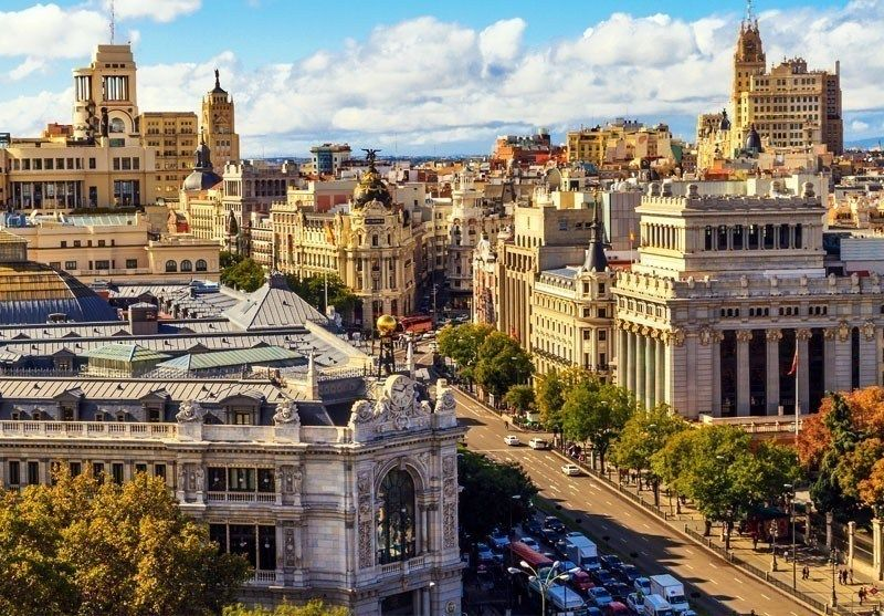 Aerial View Of Gran Via Ping Street Madrid 10 Best Places To Visit