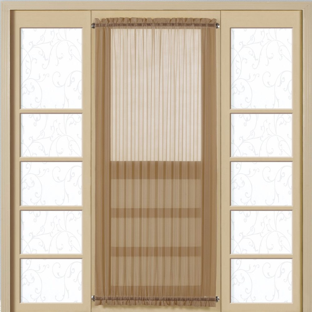The Monte Carlo Semi Sheer Voile Door Panel By United Curtain