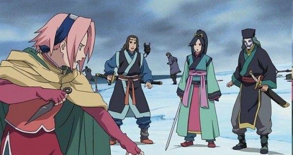 Sakura Costume Skirt Side View Ninja Clash In The Land Of The Snow Naruto The Movie Naruto Cosplay Naruto