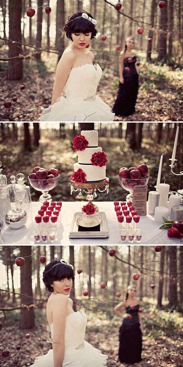 Snow White Wedding theme. Cute | I Just Love Weddings | Pinterest ...