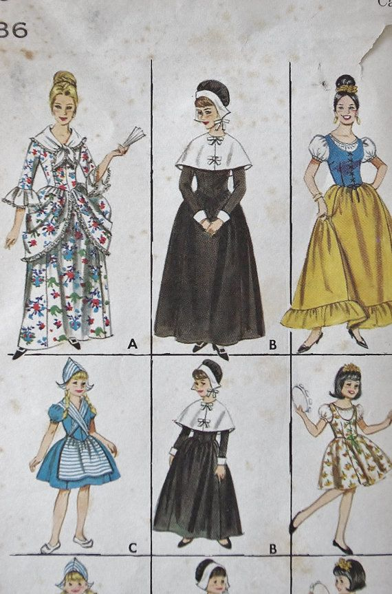 Vintage Halloween Costume Sewing Pattern ,, 60s Sewing