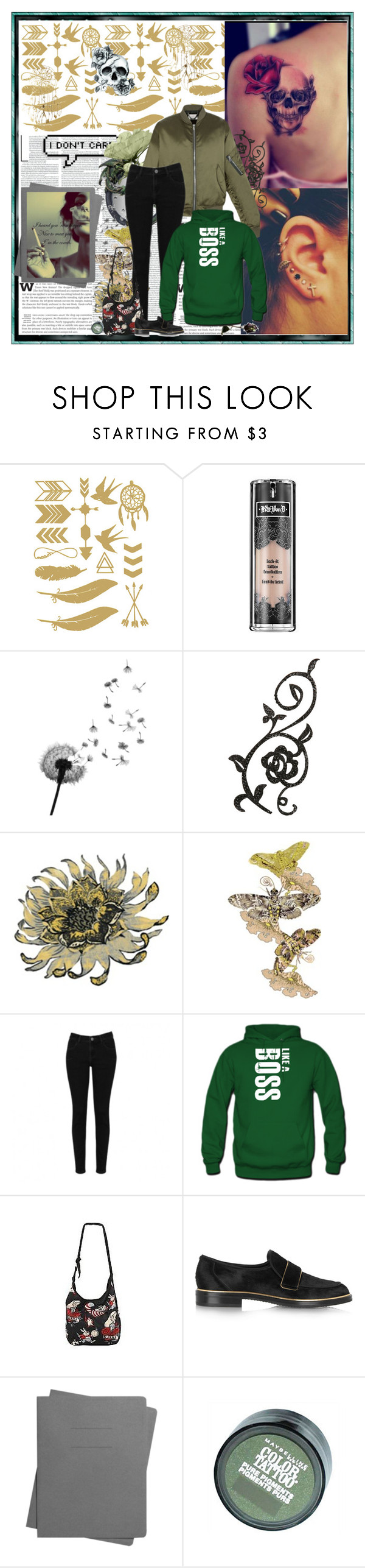 """""""Like a boss"""" by valc5 ❤ liked on Polyvore featuring Kat Von D, MARBELLA, Disney, Casadei, Shinola and Maybelline"""