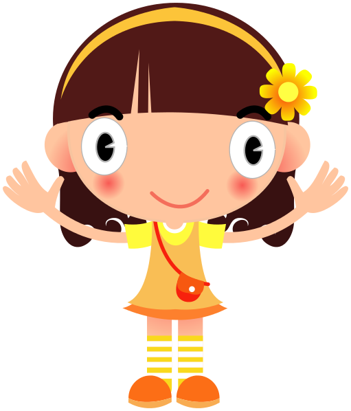 Big Smile Girl In Yellow Ilustracao Imagens Clipart