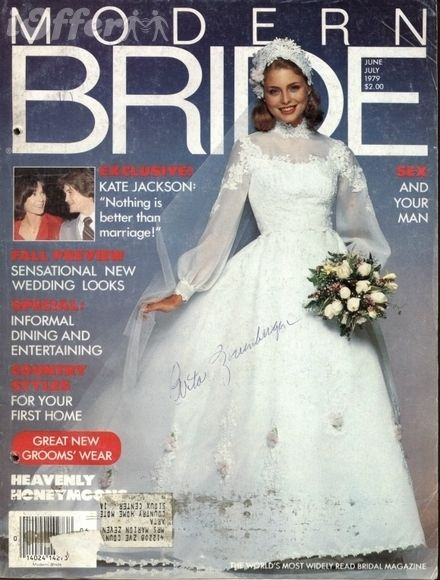 Modern Bride Magazine June July 1979 1970s Wedding Vintage Photos Bridal