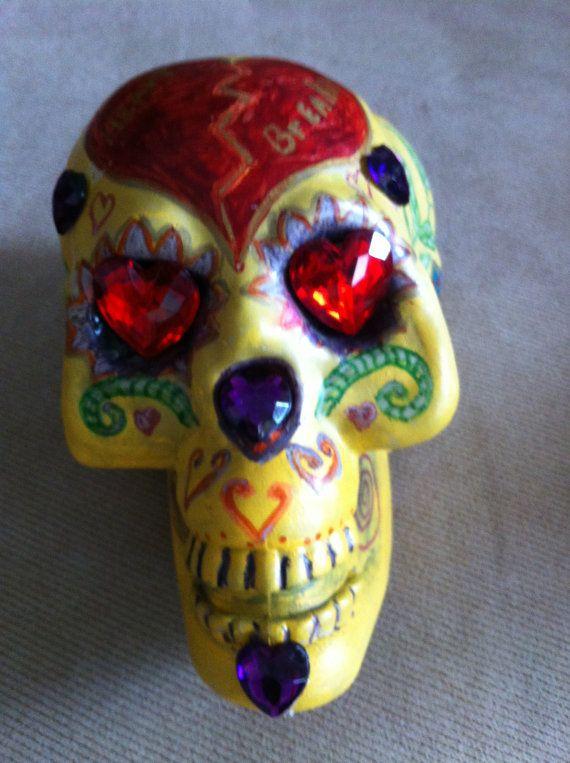 Mr Heart Breaker is a Hand Painted Skull by NanabugsTreasures