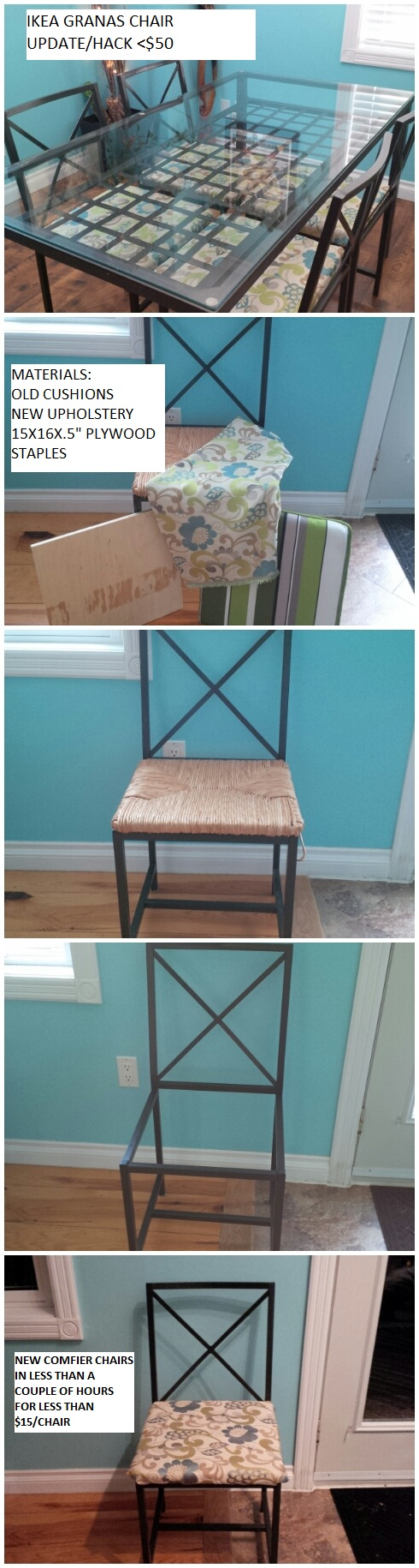 Remarkable My First Ikea Hack Our Granas Chairs Were In Desperate Beutiful Home Inspiration Aditmahrainfo