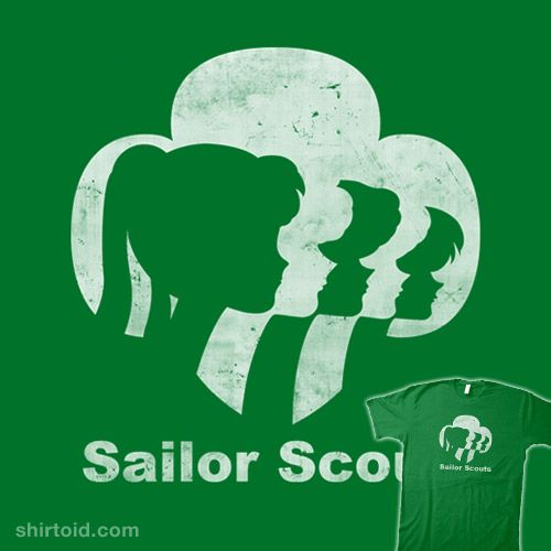 """""""Sailor Scouts"""" by Li.Ro.Vi Girl Scout Cookies Thin Mints meets Sailor Moon. Special scented ink makes this design smell just like mint chocolate cookies!"""