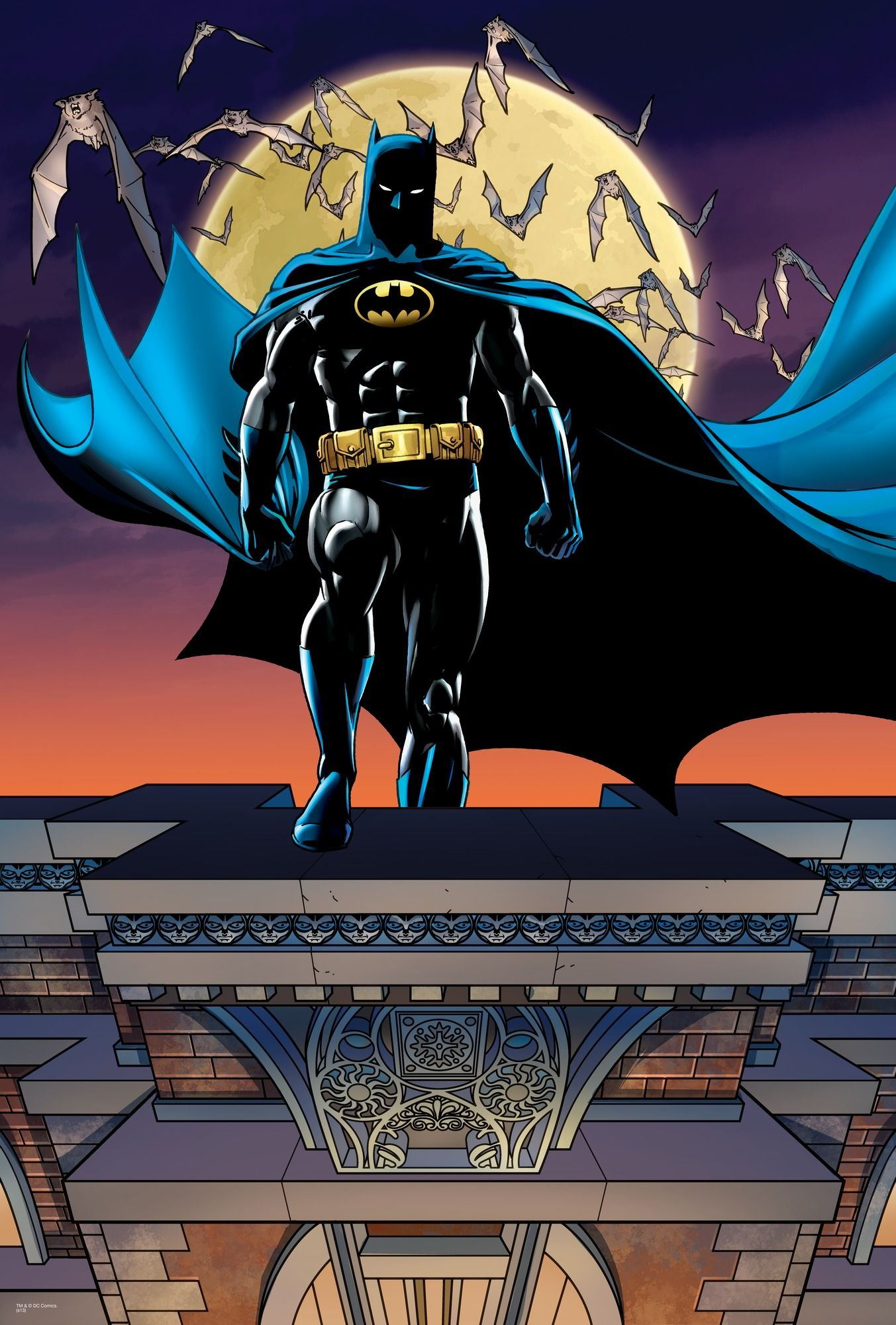 DC Comics Batman Roof Tops wall mural (With images ...