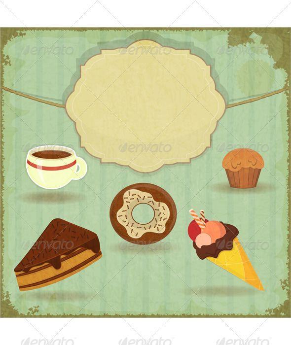 Vintage Cafe Menu Vintage Cafe Cafe Menu Dessert Illustration