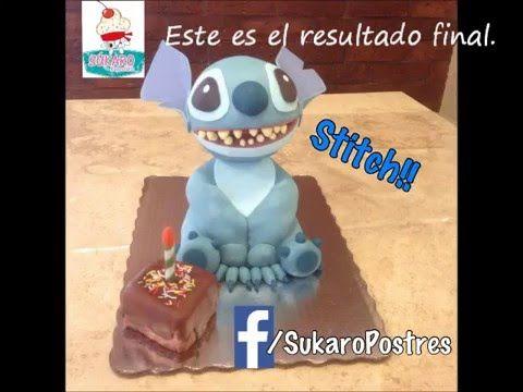 Pastel de fondant Stitch - YouTube