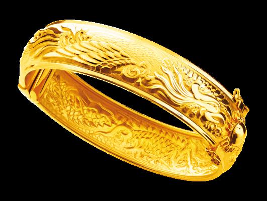 Gold 916 Dragon and Phoenix bangle Chinese Wedding Pinterest
