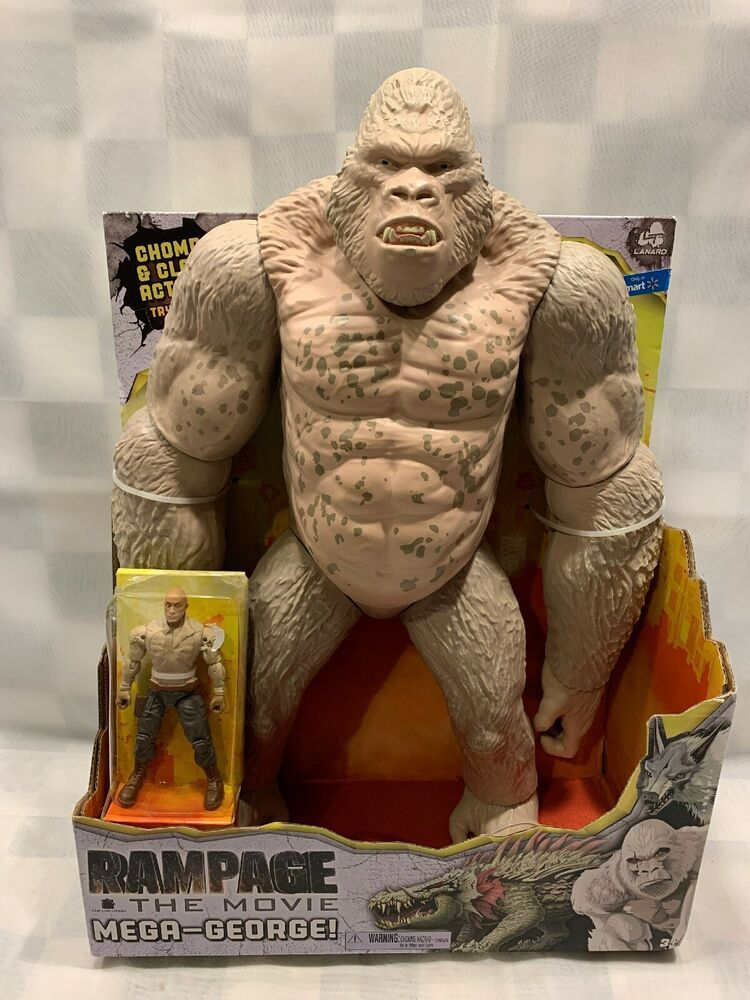 Rampage The Movie 16 Mega George Ape The Rock Action Figure New