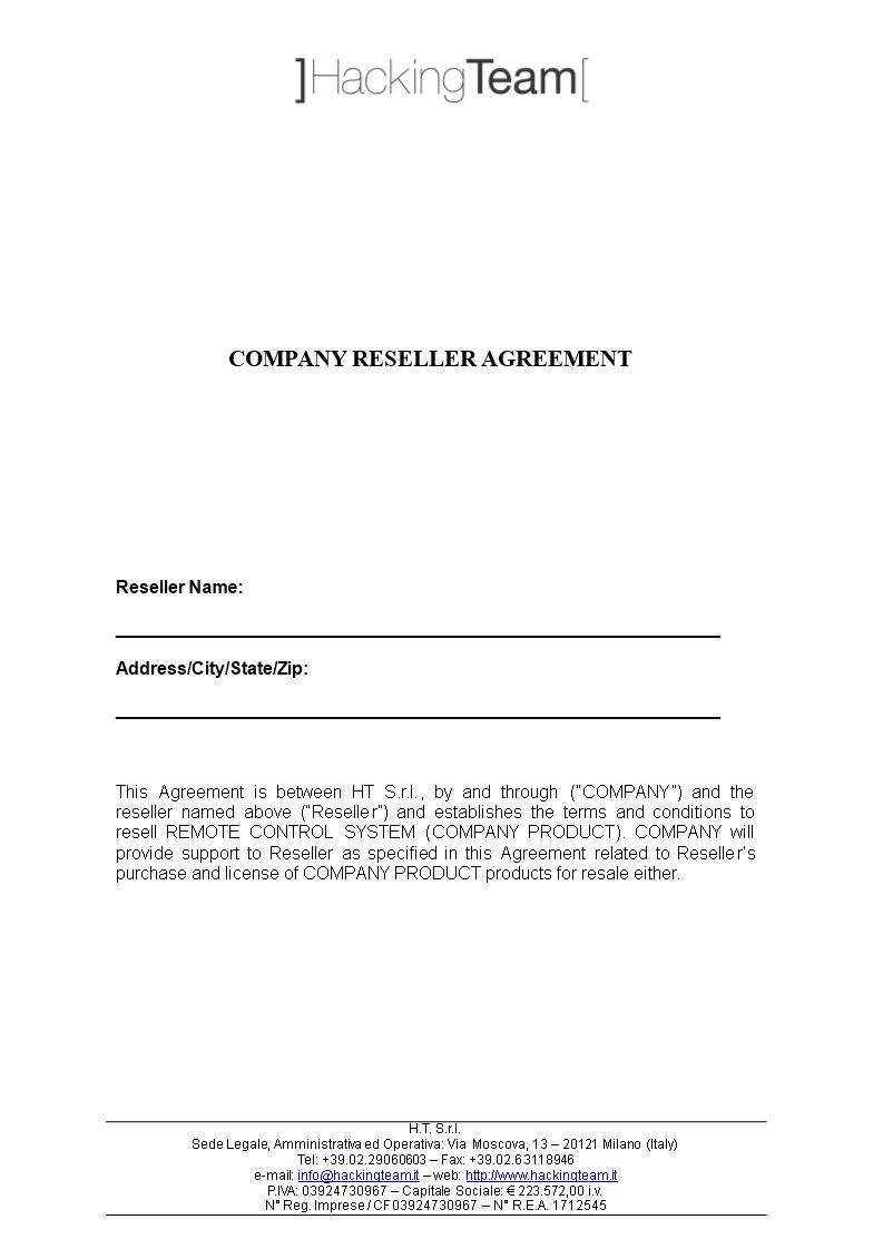 Company Reseller Agreement Templates At In Reseller Agreement Template Best Template Design Best Templates Business Plan Template Free Templates