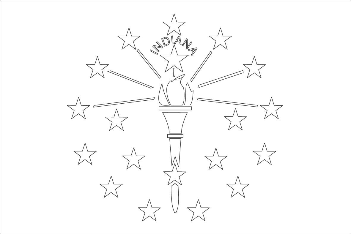 indiana flag outline - Google Search | Indiana Bicentennial Story ...