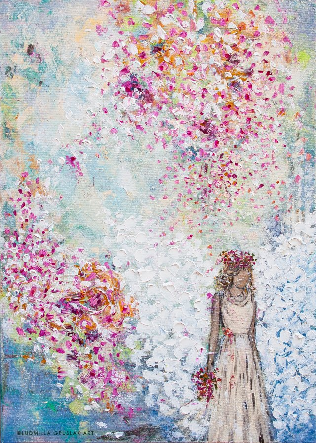 Angel Painting By Ludmilla Gruslak Guardian Angel Love Hope Comfort Engelbild Engel Angel Painting Angel Wings Painting Art