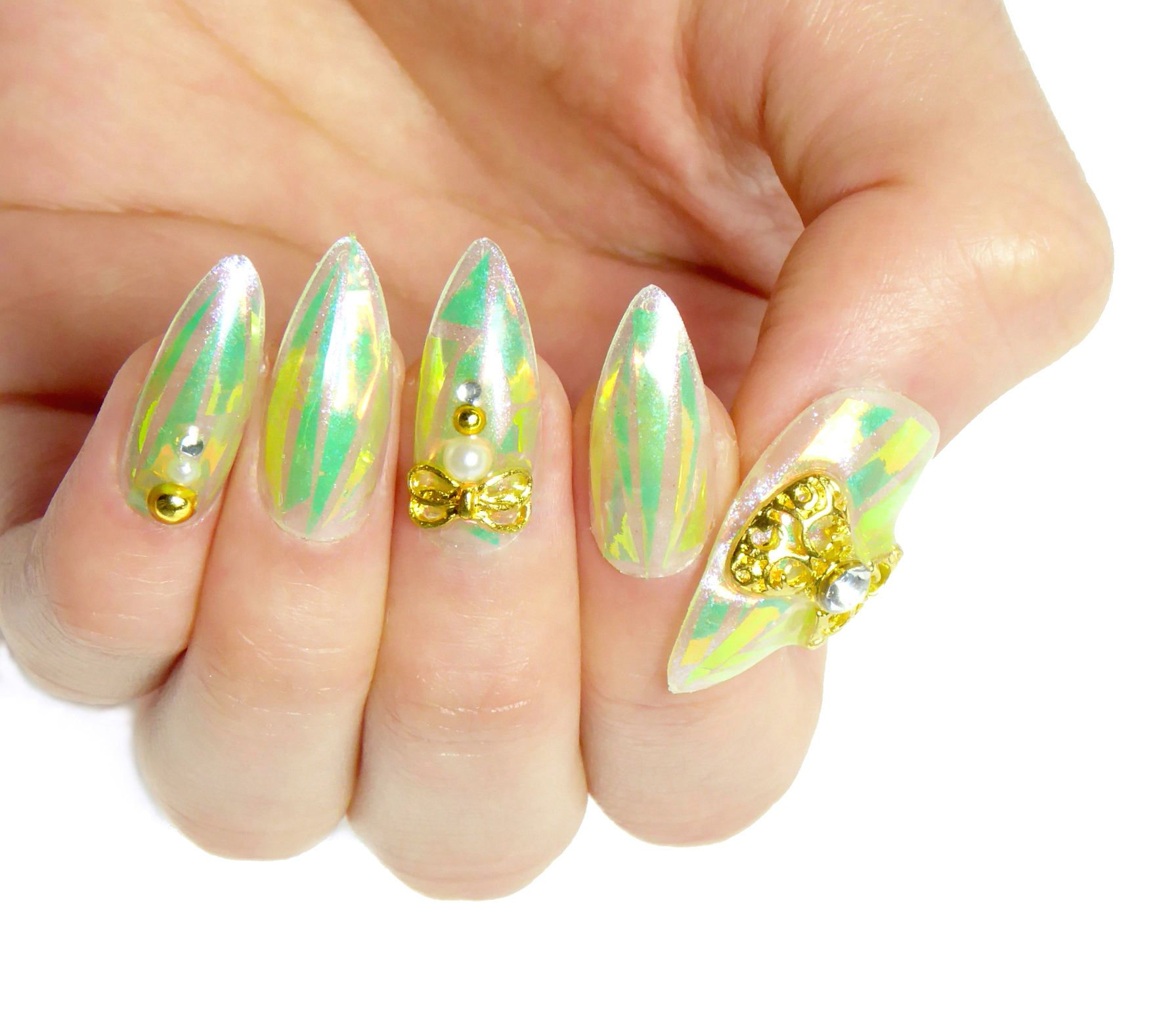 TinkerBell Fairy Gel Nails / Fake nails, glue on nails, press on ...
