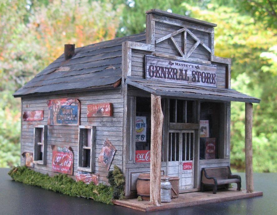 Country store model train building o scale model train for Artitec design