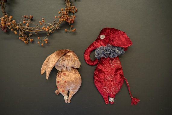 EMIL / Ruff ..... elephant art doll stuffed animals by RUCNIduha