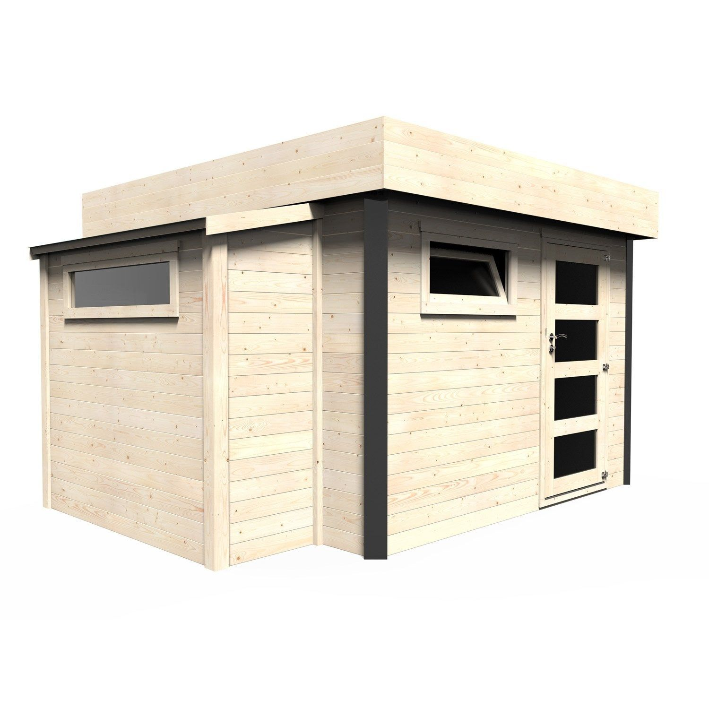 Abri De Jardin Bois Atelier Bow Window Ep28 Mm 1023 M²