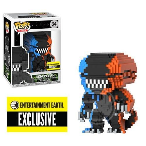 8-Bit Orange /& Blue Xenomorph Funko Pop Vinyl Figure Alien #24