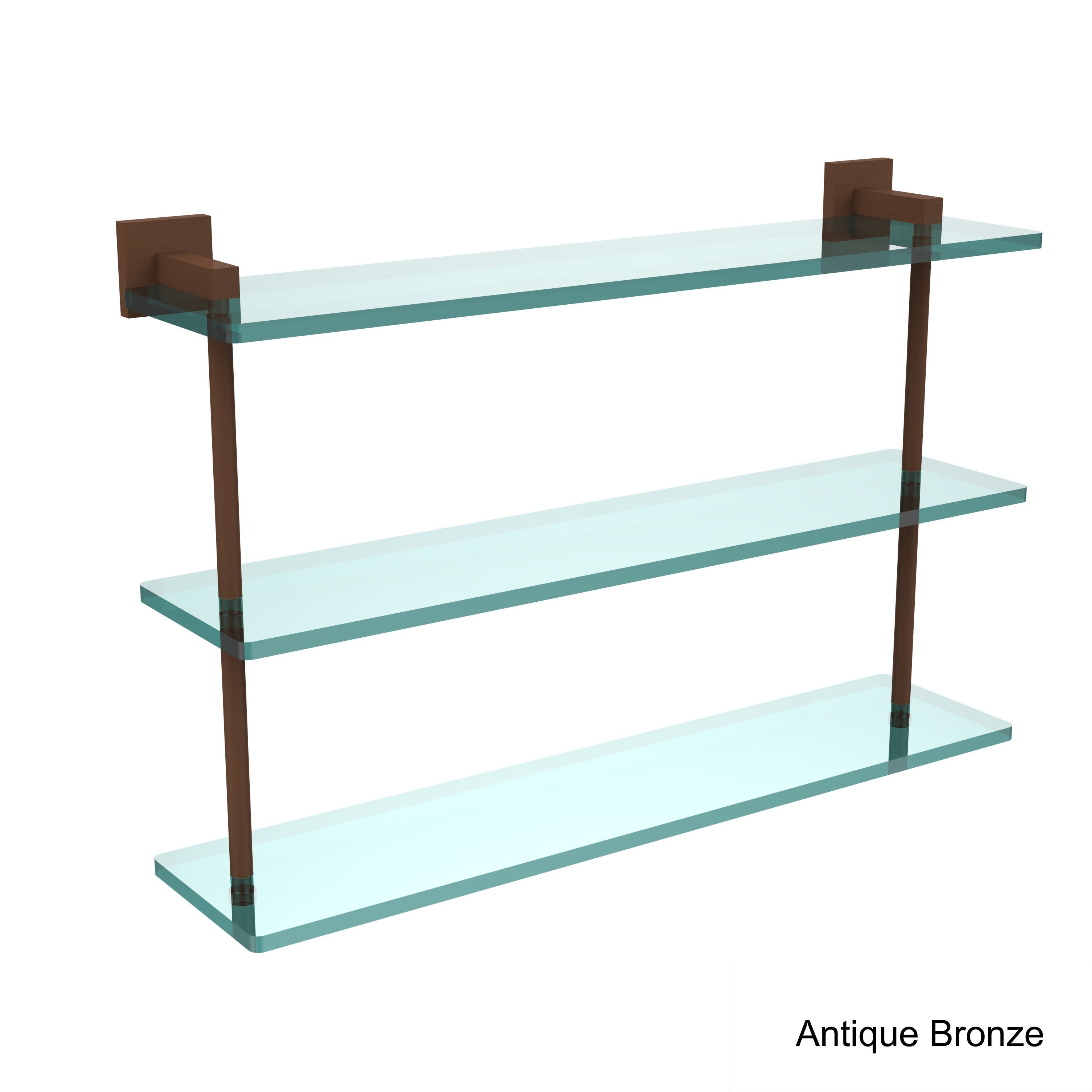Allied Brass Montero Collection 22-inch Triple Tiered Glass Shelf ...