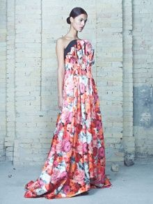 Floral Corset Draped Gown | NOT JUST A LABEL by Elenareva Could be over powering, but it does call me.