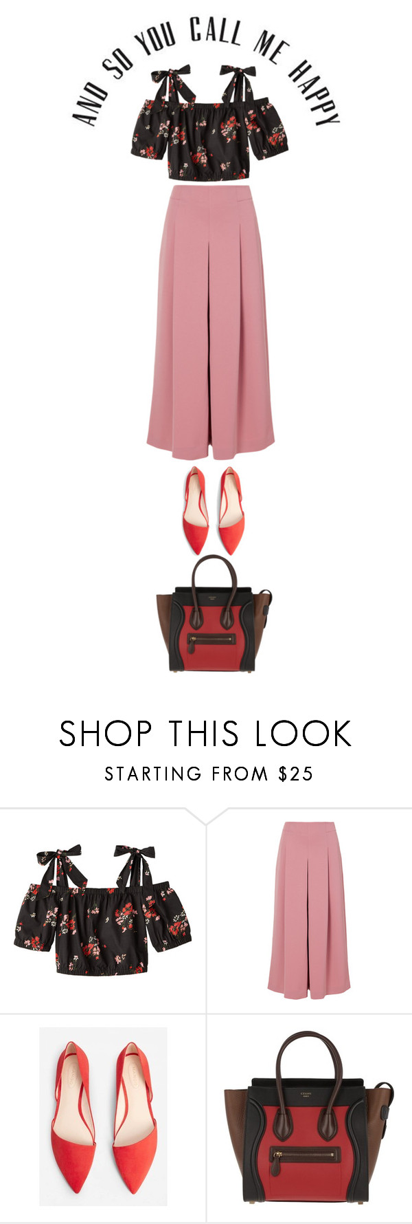 """a happy day"" by ecem1 ❤ liked on Polyvore featuring TIBI, MANGO and CÉLINE"