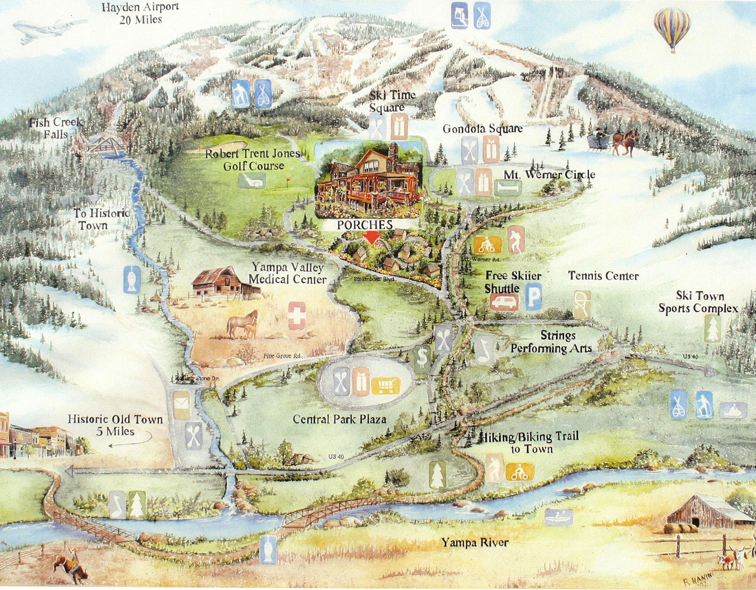 Steamboat Springs Map Steamboat Springs Colo Mappery Colorado