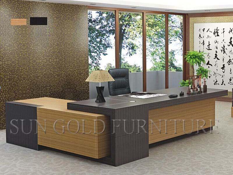 Foto de mesa de escrit rio moderna da mob lia de for Muebles de comedor modernos en rosario