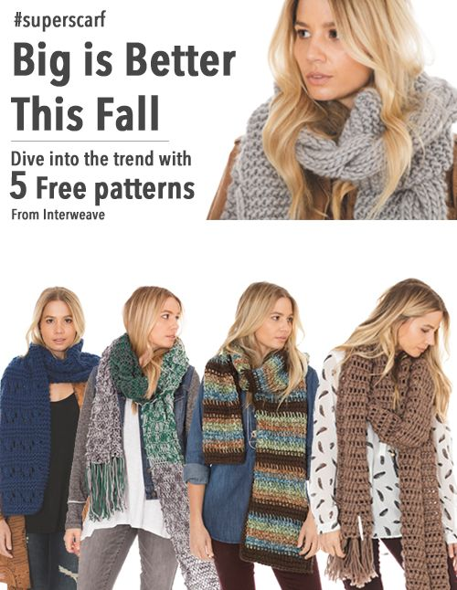 The Super Scarf Bulky Yarn Knitting And You Pinterest Knit