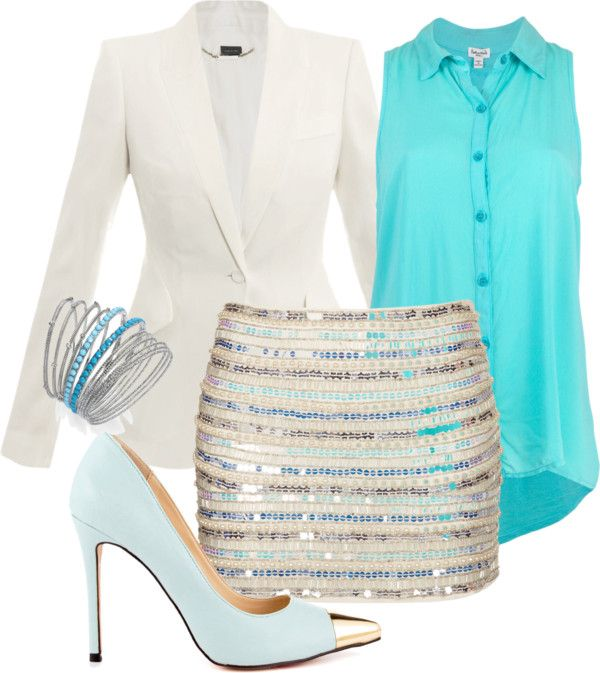 """Skirted blues"" by dawnharvey on Polyvore"