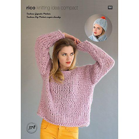 Buy Rico Gigantic Mohair Jumper Knitting Pattern Online At Johnlewis
