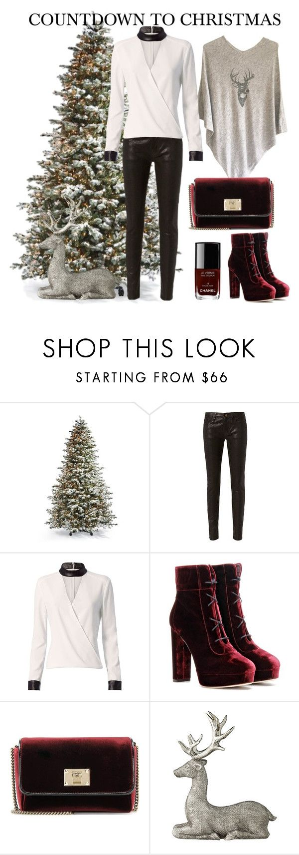 """""""COUNTDOWN TO CHRISTMAS"""" by cashmererebeluk on Polyvore featuring Frontgate, Frame, Exclusive for Intermix, Jimmy Choo, Lene Bjerre and Chanel"""
