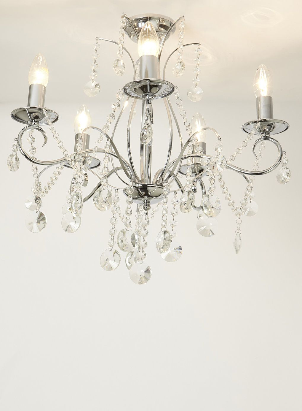 Bathroom Chandeliers Bhs connie chandelier flush light - bhs | home decor | pinterest