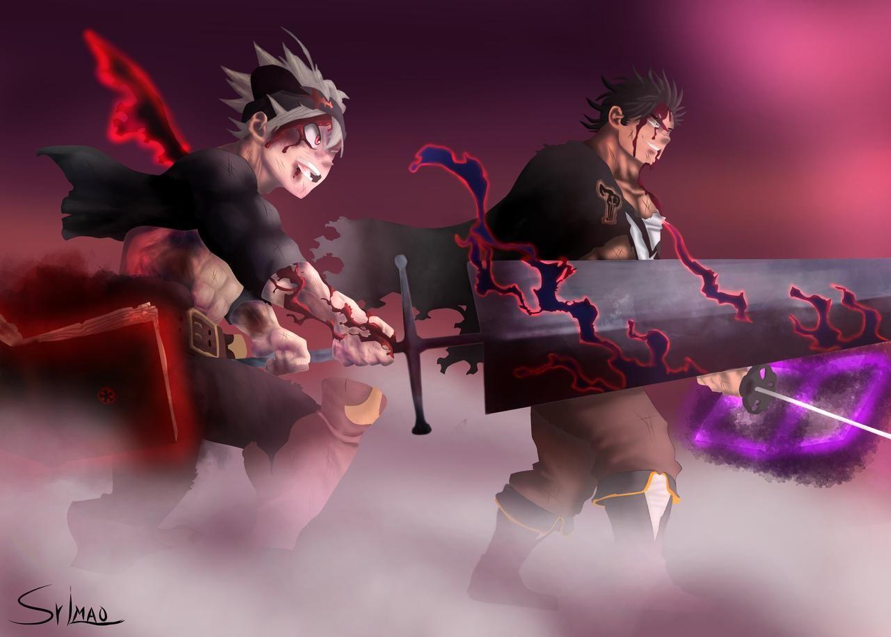 Asta And Yami Vs Dante By Srlmao On Deviantart Black Clover Anime Black Clover Manga Clover