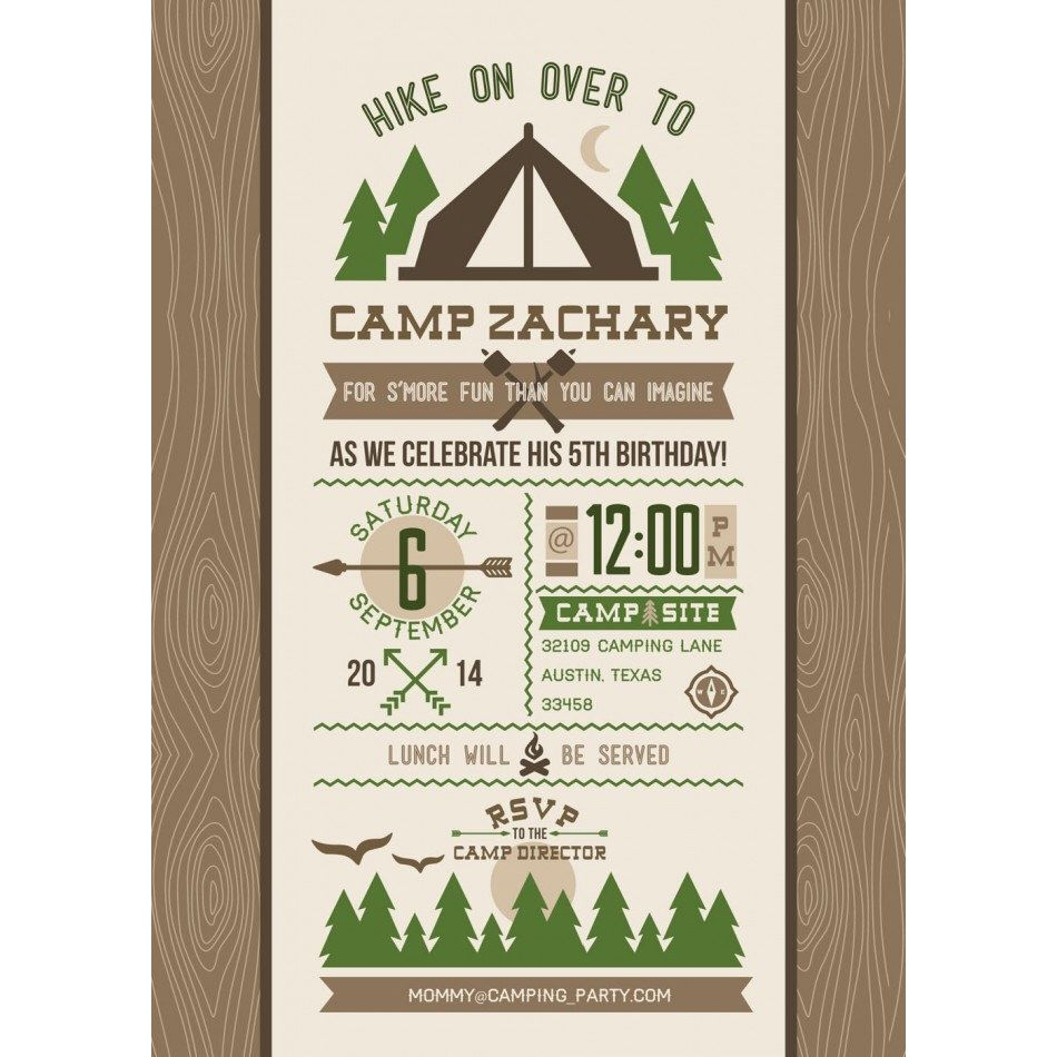 Outdoor Adventure Camping Forest S\'mores Sleepover Camp Scout ...
