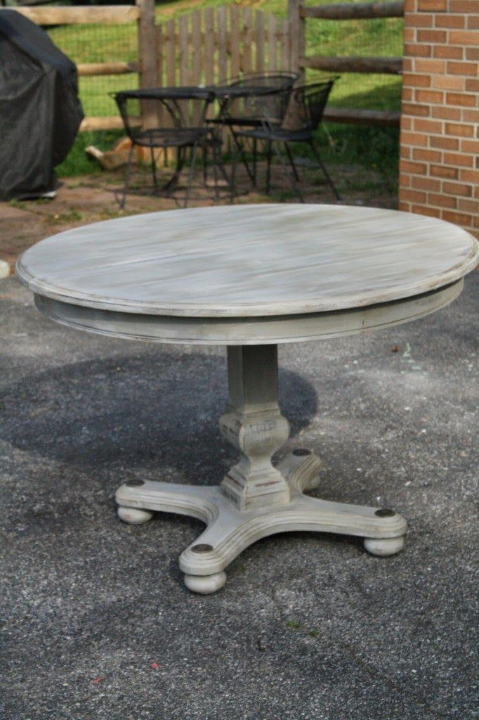 Starting A Little Painting Project Gray Wash Technique Grey Dining Tables Painting Furniture Diy Grey Dining